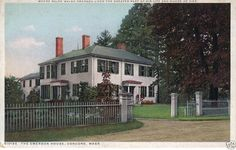 Ralph Waldo Emerson's home, Concord Mass.  From this spot turn half-way around and see the Alcott home.