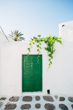 Green door in Mykonos by michela ravasio - Stocksy United Beautiful World, Beautiful Places, Jolie Photo, Travel Aesthetic, Greece Travel, Greek Islands, Places To Go, Scenery, Photo Wall