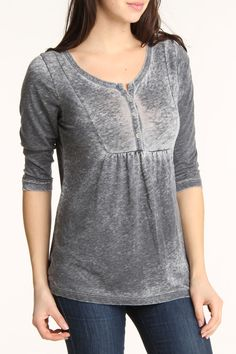 Love this material! Coin 1804 Burnout Wash Yoke Henley
