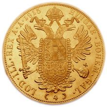 4Dukát 1915. Rakouská zlatá mince.