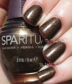 SpaRitual Fall 2014 Wander Collection Swatches & Review. Starry Night is a deep brown base with gold shimmer.