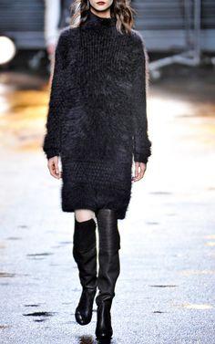 Fuzzy Angora Sweater Tunic Dress