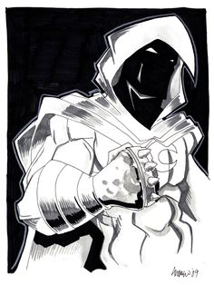 Moon Knight by misfitcorner on DeviantArt Moon Knight, Dark Knight, Marvel Universe, The Darkest, Avengers, Batman, Fan Art, Deviantart, Fictional Characters