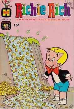 Richie Rich 104  April 1971 Issue  Harvey Comics  Grade
