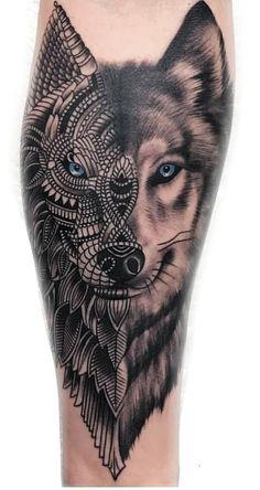 50 Of The Most Beautiful Wolf Tattoo Designs The Internet Has Ever Seen loup ornemental tatouage © tatoueur Dylan Wilson Wolf Tattoos Men, Maori Tattoos, Marquesan Tattoos, Forearm Tattoos, Animal Tattoos, Body Art Tattoos, Tribal Wolf Tattoos, Wing Tattoos, Celtic Tattoos