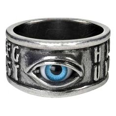 Alchemy Gothic Ouija All Seeing Eye Ring Occult