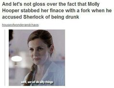 Molly Hooper's standards. Don't go there with Sherlock!