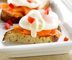 Entertain with quick eggs benedict for brunch or breakfast. This recipe is easy to make and the perfect dish to start off any morning. This healthy meal will keep you full and satisfied till lunch.