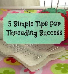 If  threading is a challenge for your child try one or all of these tips and see if it doesn't help.