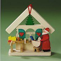 Santa in Workshop Ornament