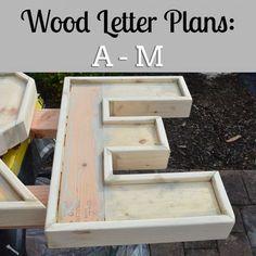 Wood Letter Plans: A - M