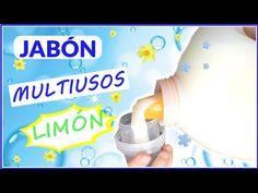 🛑JABÓN LÍQUIDO (limón)🍋🍋 PARA LAVADORA, 💦💦VAJILLA, SUELOS (desengrasante) - YouTube Spray Bottle, Ideas Para, Soap, Personal Care, Cleaning, Youtube, Tips, Beauty, Chicago