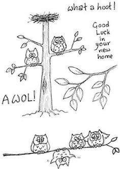 Lindsay Mason Designs A6 AWOL What a Hoot! Clear Stamp, Transparent