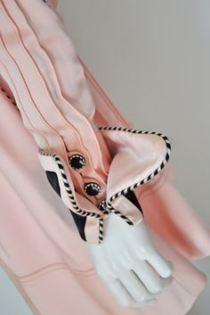 Sleeve/Cuff detail on Bill Gibb Dress 1970