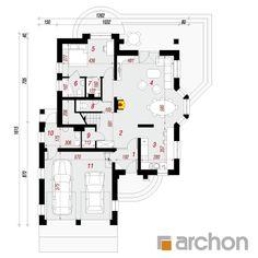 Dom w kokosach Classic House Design, Modern House Design, Dream House Exterior, Design Case, Minimalist Home, Modern Farmhouse, House Plans, Floor Plans, 1