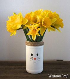 DIY Recycled Easter Bunny Vases — Weekend Craft