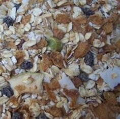 Home-made toasted oat muesli