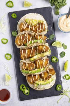 Creamy Fish Taco Sauce - Chili Pepper Madness Baja Fish Tacos Sauce, Baja Fish Taco Recipe, Salmon Fish Tacos, Fish Tacos With Cabbage, Grilled Fish Tacos, Cabbage Slaw, Coleslaw Sauce, Taco Sauce Recipes, Beer Battered Fish Tacos