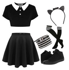 """""""Tight up skirt"""" by gurveenpanesar ❤ liked on Polyvore featuring Converse and Kate Spade"""