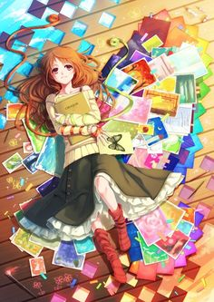 This is me every day dreaming about anime! -Emiko