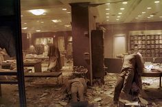 9/11 - The floor of the Brooks Brothers shop near the World Trade Center was littered with debris after the Twin Towers collapsed. The store was turned into a temporary morgue.