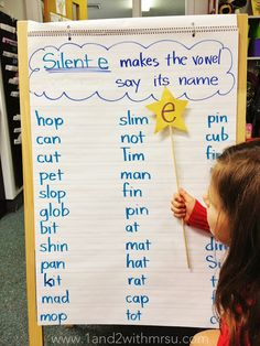 1 and 2 with Mrs. U: Silent e