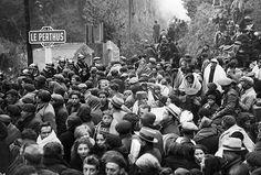 Refugiados españoles en la carretera de Perpignan a Le Perthus (Francia). Crédito: Getty Images. Perdón...