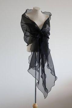 Evening design elegant shawl, Black shawl, Organza shawl, Mother of the bride shawl,Evening cover up Girls Tulle Skirt, Tutu Skirt Women, White Tulle Skirt, Bridal Shawl, Wedding Shawl, Evening Shawls And Wraps, Old Navy, Navy Blue, Black Mermaid Dress