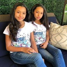 Cute Twins, Cute Baby Girl, Cute Girls, Cute Babies, Pretty Girls, Beautiful Black Babies, Beautiful Children, Mommy And Me Outfits, Cute Outfits For Kids
