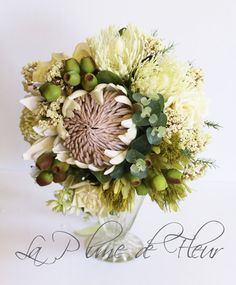 Rosalie Stunning Extra Large Rustic Wedding Bouquet White Australian Native
