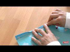 Bias tape tutorial. DaWanda Nähschule Schrägband annähen - YouTube