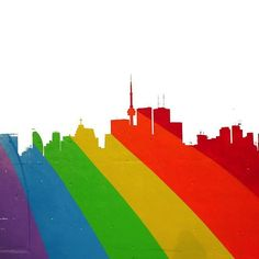 "Today's challenge is ""My Toronto"". Toronto's the city of my birth… Toronto Photography, Web E, Amazing Street Art, Rainbow Bridge, Gay Pride, Perfect Match, Graffiti, Challenges, Cartoon"