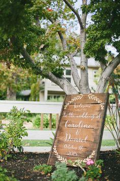 rustic wedding welcome sign