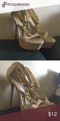 Charlotte Russe heels Charlotte Russe heels.  Used a few times.  Good condition with the exception of a few stains. Charlotte Russe Shoes Heels