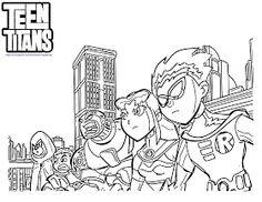 Free Online Printable Teen Titans Coloring Page   Superheroes ...
