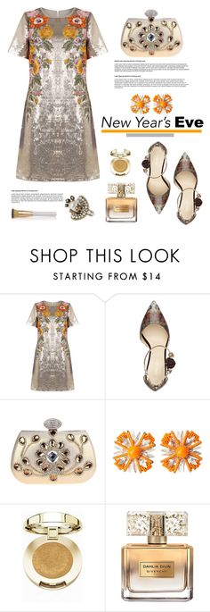 """""""New Year´s Eve"""" by hamaly ❤ liked on Polyvore featuring Nine West, Miriam Haskell, Milani, Givenchy, Gucci, Eve Lom, ootd, happynewyear and eveningdresses"""