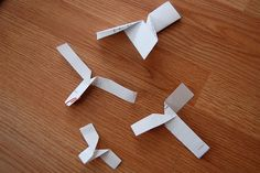 paper helicopter by Maker Mama, via Flickr