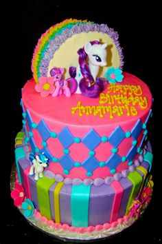 My Little Pony #birthday #cake at #SweetTreets #bakery