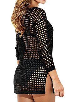 Women's Fashion Swimsuit Cover-Up Beach Mini Dress Black,One Size,Black - http://todays-shopping.xyz/2016/07/03/womens-fashion-swimsuit-cover-up-beach-mini-dress-blackone-sizeblack/
