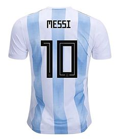 3fb89032e 2018 World Cup Argentina Messi 10 Home Mens Jersey Color White Size S