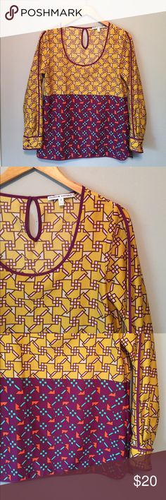 Collective Concepts geo Blouse Great polyester top by Collective Concepts, labeled a Small can fit a size 2-6. Excellent Condition no flaws. Collective Concepts Tops Blouses