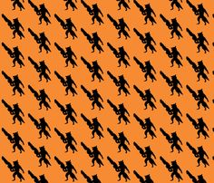Rocket Raccoon from Guardians of the Galaxy fabric by bm_design_studio on Spoonflower - custom fabric