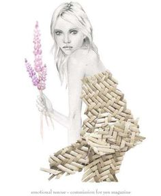 Romantic Fashion Illustrations: Delicate Artwork Inspired by Contemporary Designers and Pop Icons