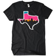 San Antonio Skyline Spurs T-Shirt Champions Tee | Textual Tees | TextualTees.com