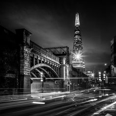Tower Bridge Rd - Shard: Part of the London Bridge to Greenwich Railway Viaduct nearly 3.5 miles of continuous bridges