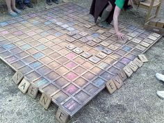 Just added to hubby's to-do list: DIY Outdoor Scrabble
