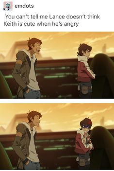 That height difference tho Lance I need you stand up straight eventually.   Keith, stay smol and badass. We need more smol badass protagonists!