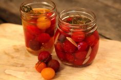A great way to preserve and store cherry tomatoes is to pickle them.
