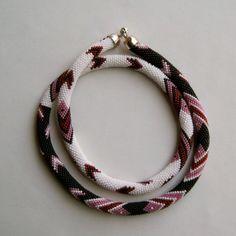 Bead Crochet Necklace Pattern:  Arrow Sampler Bead Crochet Necklace Pattern