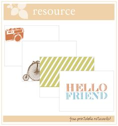 Free Note Cards